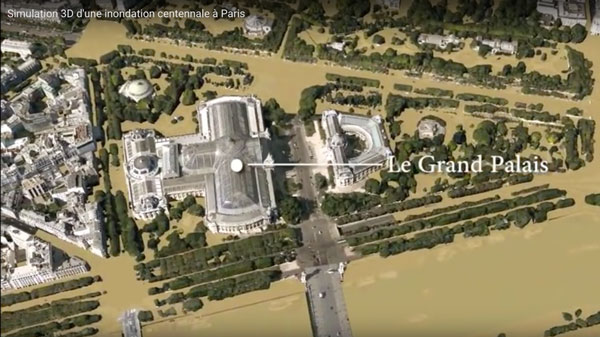 simulation de crue à Paris